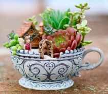 50 easy diy summer gardening teacup fairy garden ideas (31)