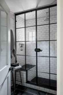 70 inspiring farmhouse bathroom shower decor ideas and remodel to inspire your bathroom (23)