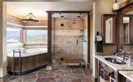 70 inspiring farmhouse bathroom shower decor ideas and remodel to inspire your bathroom (48)