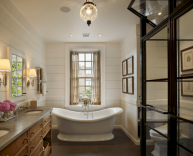 80 awesome farmhouse master bathroom decor ideas and remodel to inspire your bathroom (2)