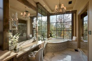 80 awesome farmhouse master bathroom decor ideas and remodel to inspire your bathroom (4)