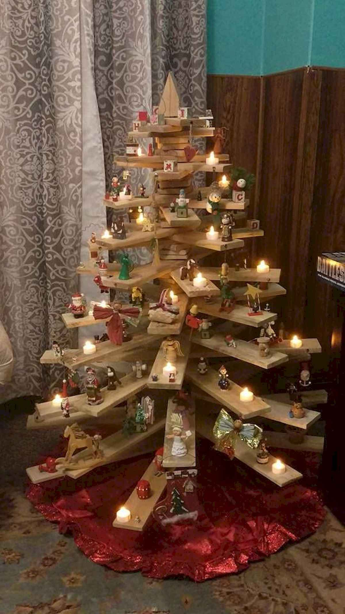 30 rustic and vintage christmas tree ideas decorations (16)