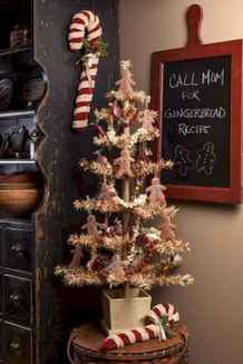 30 rustic and vintage christmas tree ideas decorations (7)
