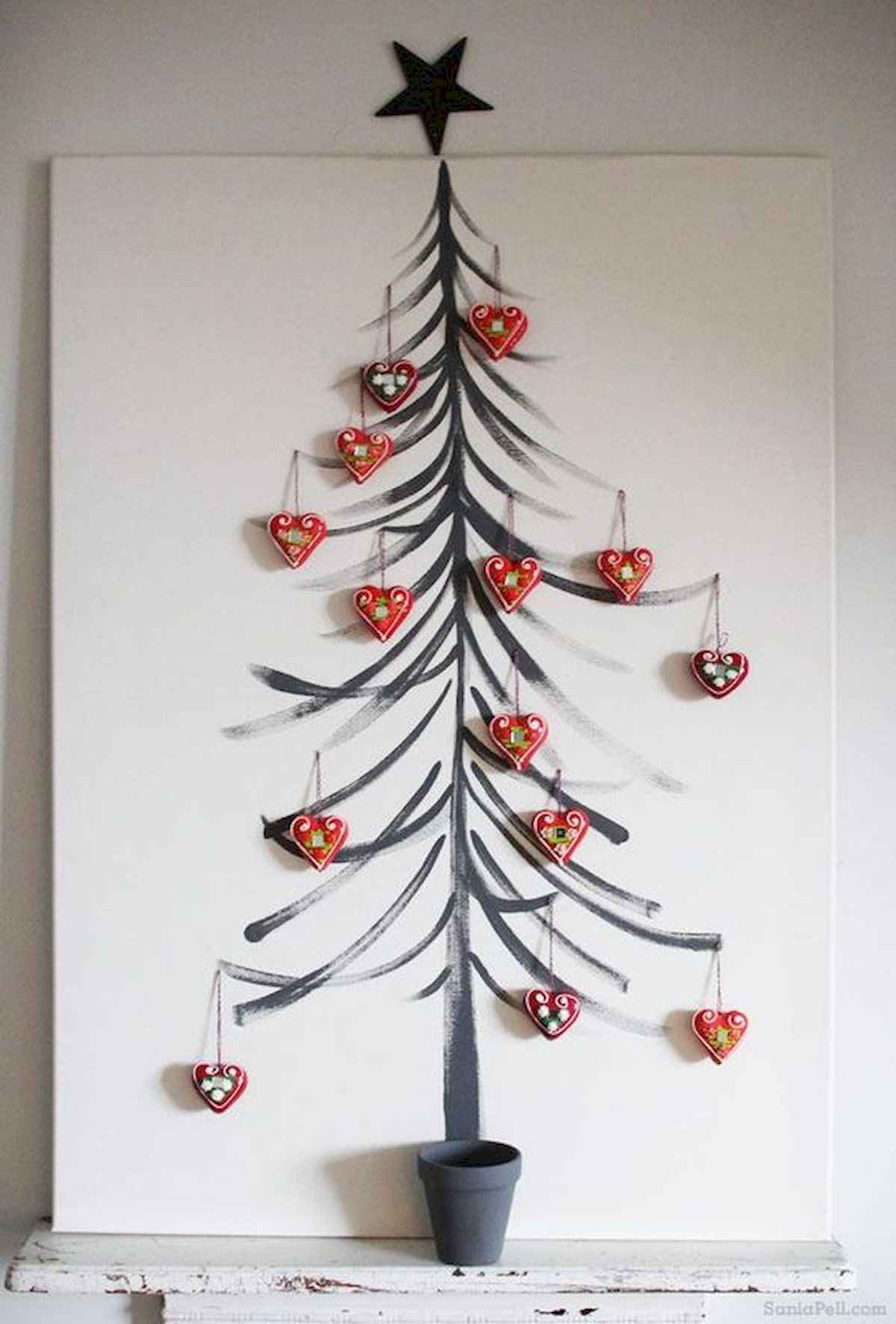 60 awesome wall art christmas ideas decorations (3)