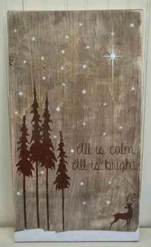 60 awesome wall art christmas ideas decorations (58)