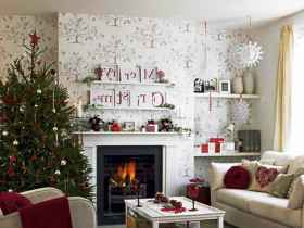 40 cheap and easy christmas decorations for your apartment ideas (63)
