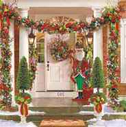 50 christmas front porch decor ideas and remodel (19)