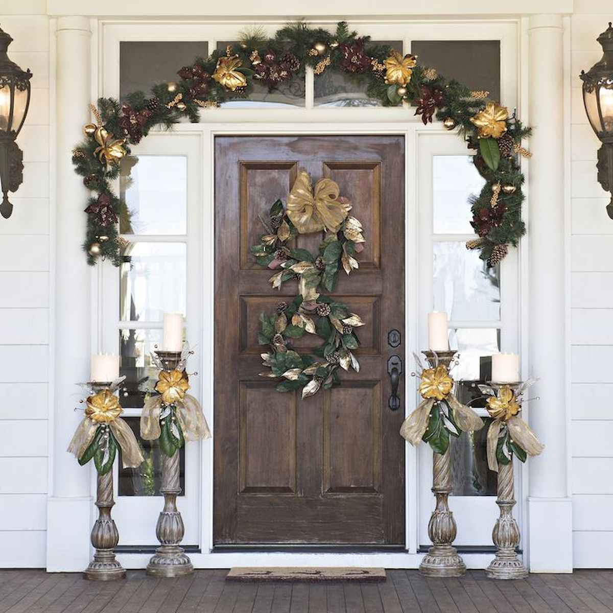 50 stunning christmas front porch decor ideas and design (11)