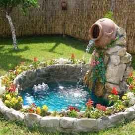 30 fantastic garden waterfall for small garden ideas (16)