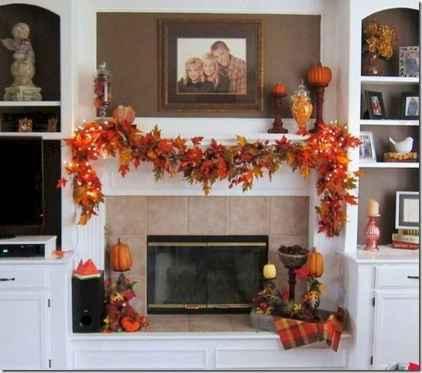 40 elegant fall mantle decor ideas (11)