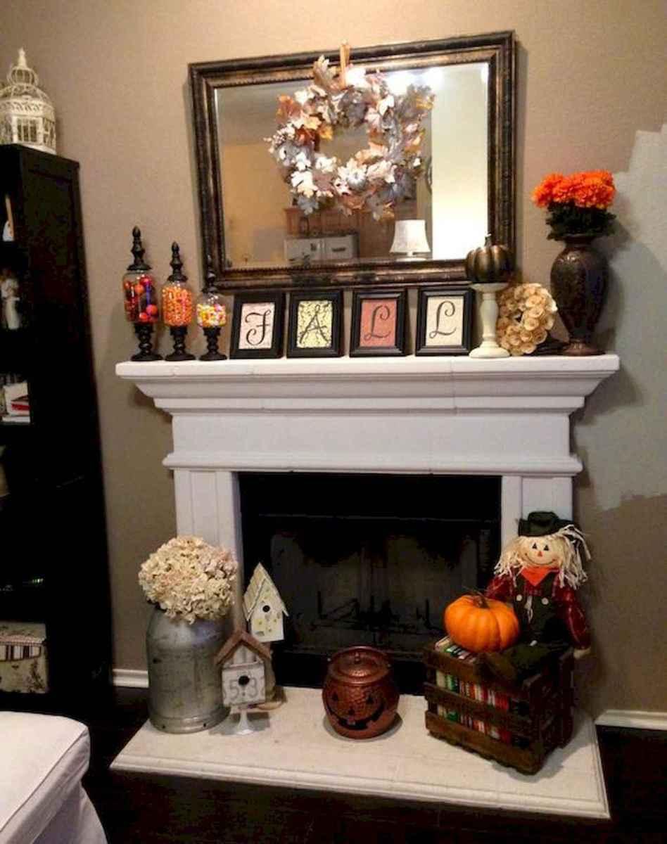 40 elegant fall mantle decor ideas (37)