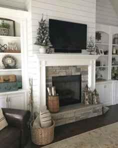 40 elegant fireplace makeover for farmhouse home decor (29)