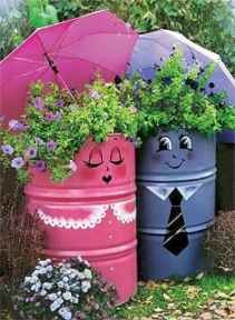 50 creative container gardening flowers ideas decorations (15)