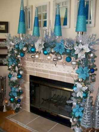 50 elegant christmas mantle decor ideas (28)