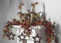 50 elegant christmas mantle decor ideas (39)
