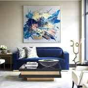 60 most elegant wall art ideas for living room makeover (33)
