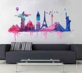 60 most elegant wall art ideas for living room makeover (59)