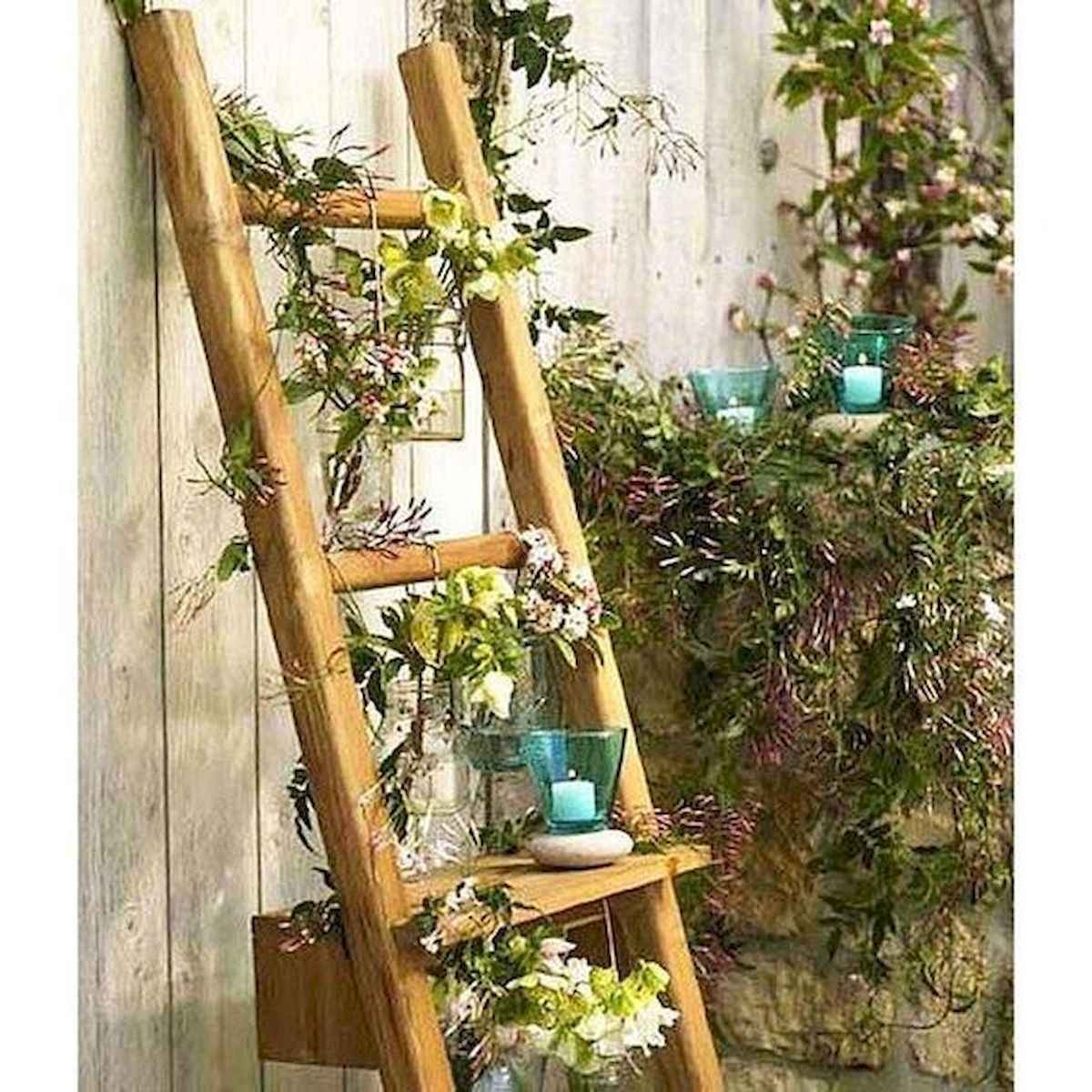 50 unique and creative ladder in the garden design ideas and remodel (16)
