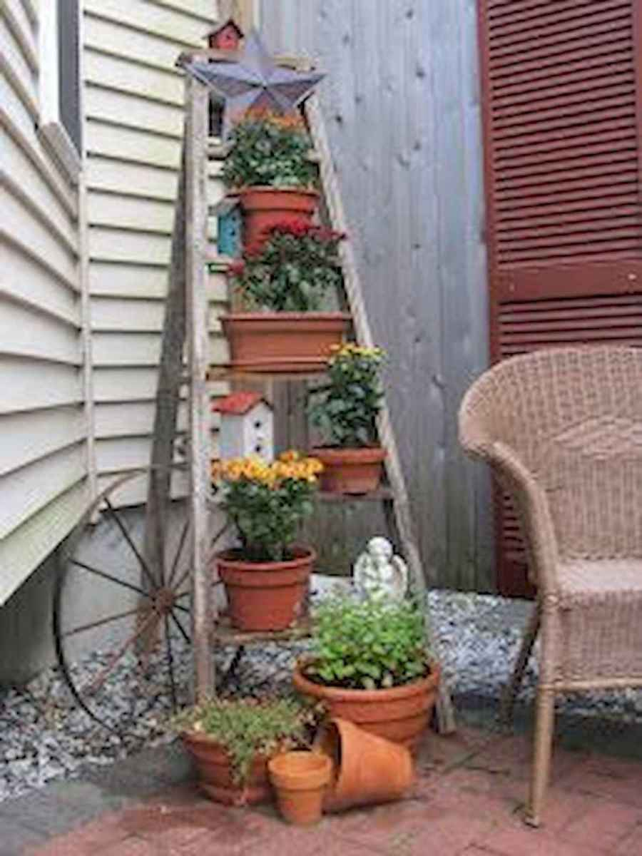 50 unique and creative ladder in the garden design ideas and remodel (18)