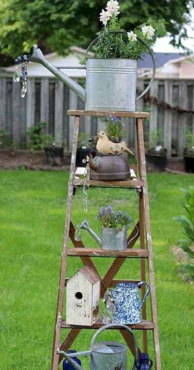 50 unique and creative ladder in the garden design ideas and remodel (25)