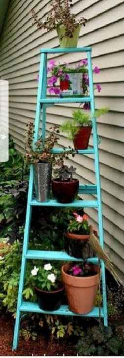 50 unique and creative ladder in the garden design ideas and remodel (26)