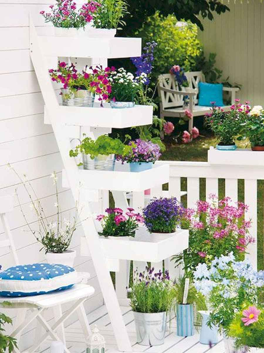 50 unique and creative ladder in the garden design ideas and remodel (40)