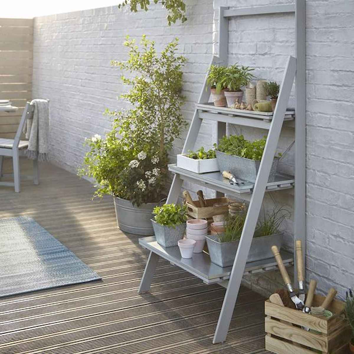50 unique and creative ladder in the garden design ideas and remodel (48)