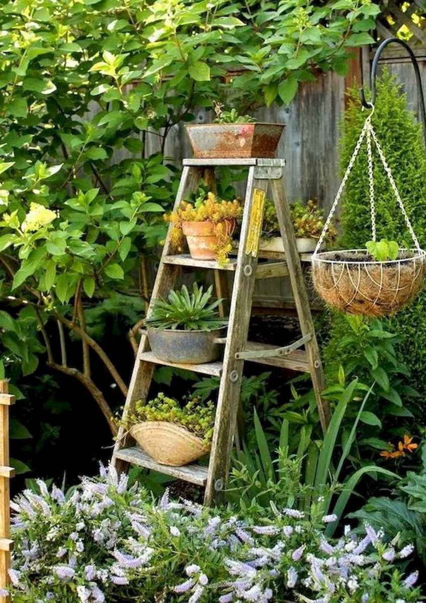 50 unique and creative ladder in the garden design ideas and remodel (54)