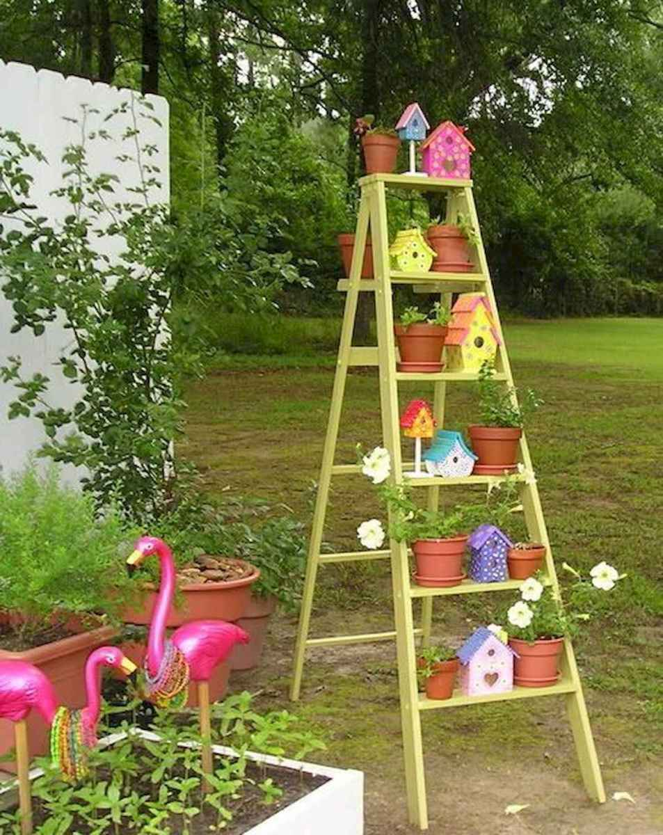 50 unique and creative ladder in the garden design ideas and remodel (6)