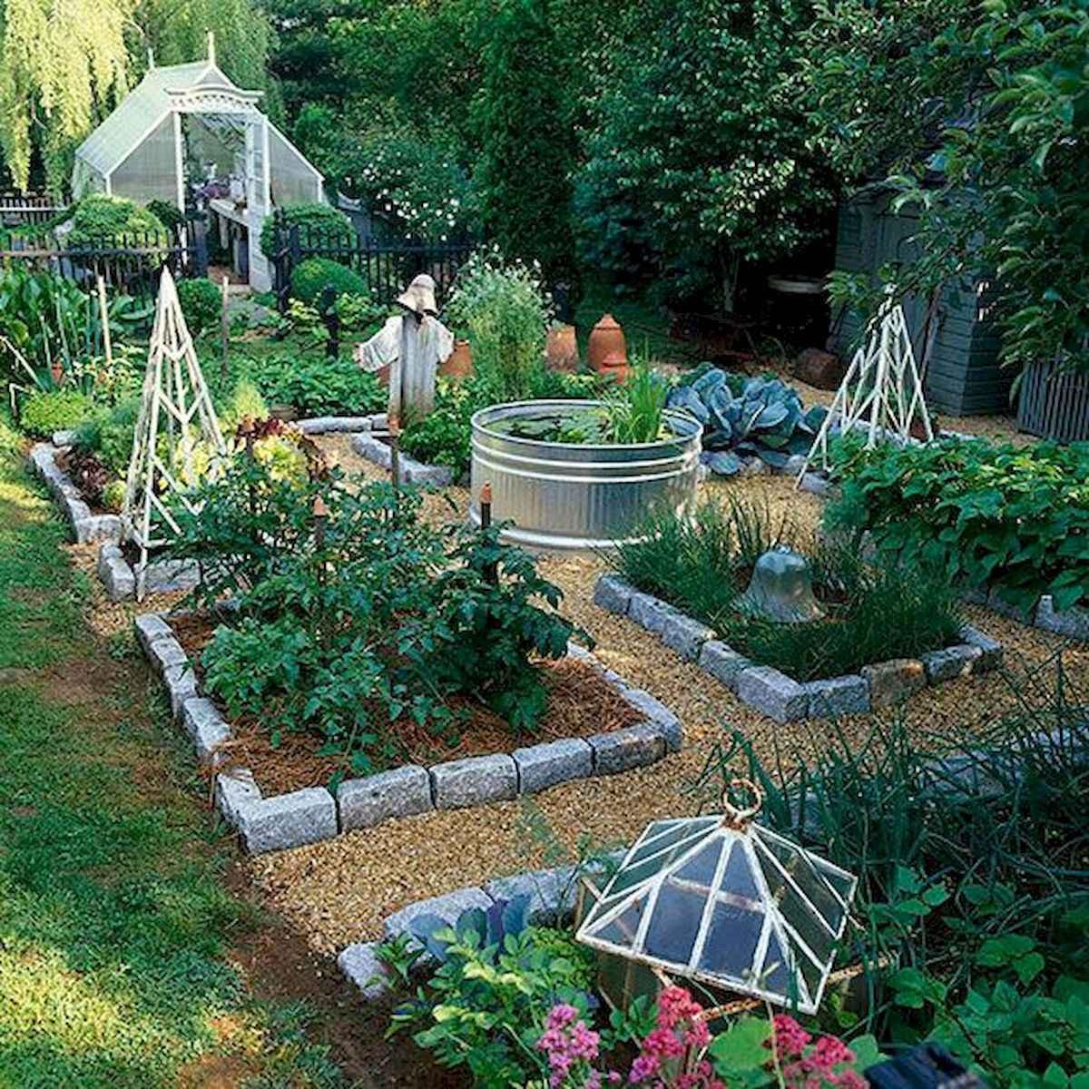 90 lovely backyard garden design ideas for summer (6)