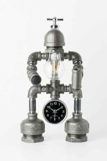 35 creative diy industrial pipe lamp design ideas robot to decor your home (7)