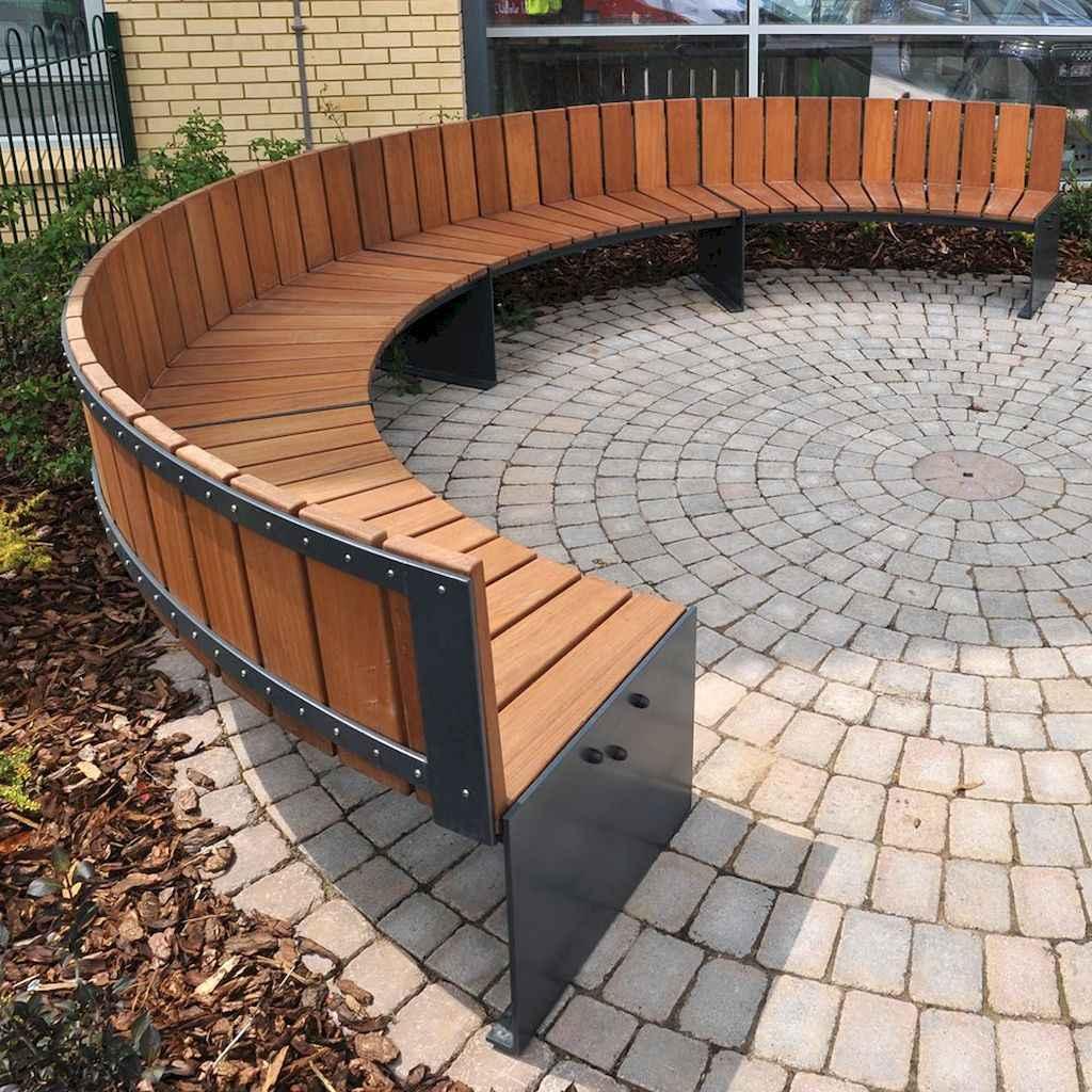 40 cheap diy outdoor bench design ideas for backyard & frontyard (1)