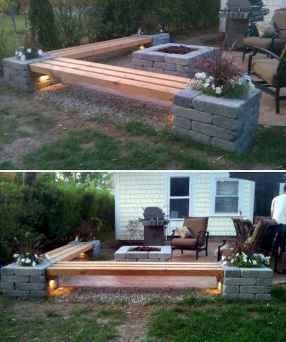 40 cheap diy outdoor bench design ideas for backyard & frontyard (17)