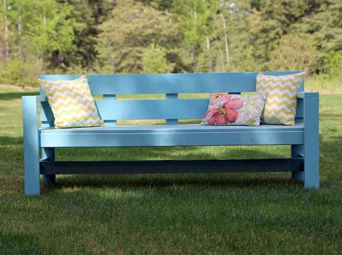 40 cheap diy outdoor bench design ideas for backyard & frontyard (25)