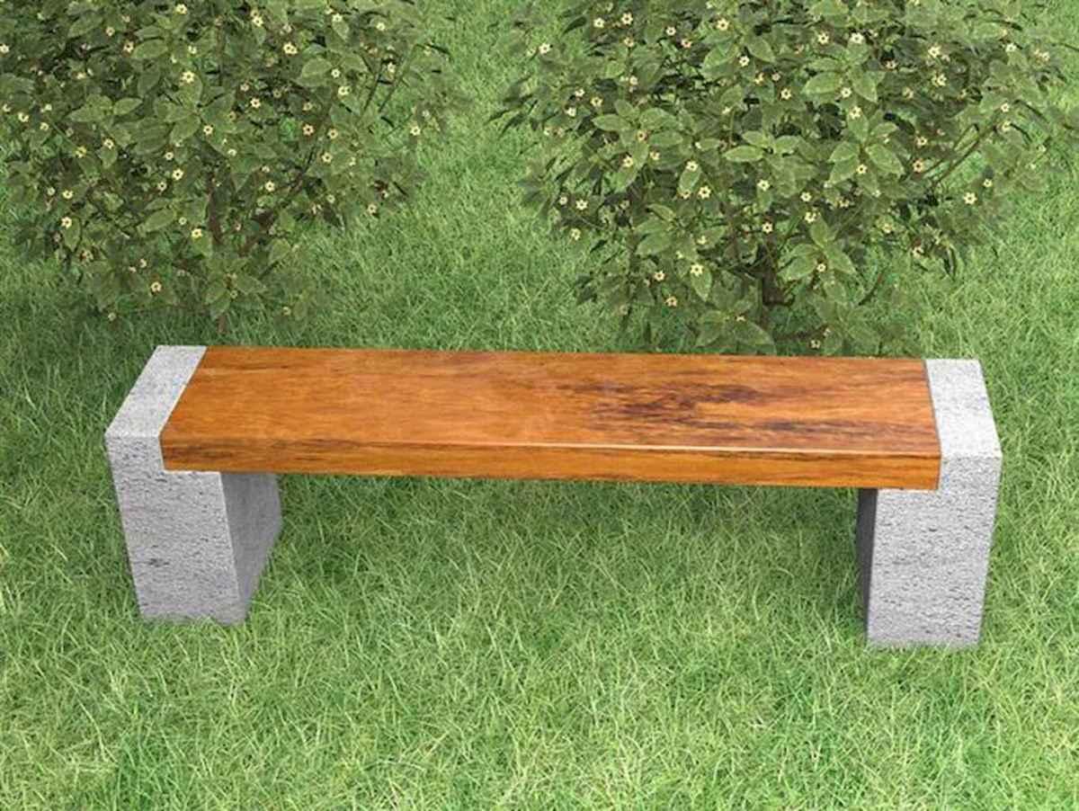 40 cheap diy outdoor bench design ideas for backyard & frontyard (30)