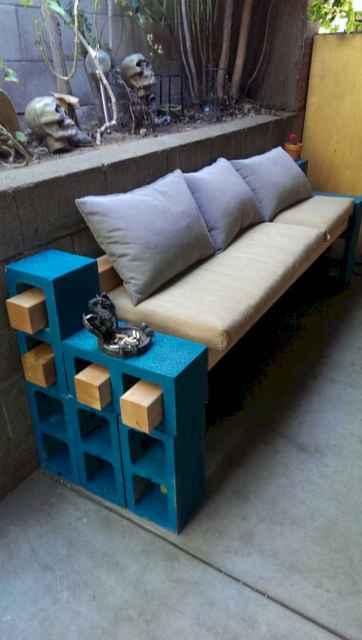 40 cheap diy outdoor bench design ideas for backyard & frontyard (36)