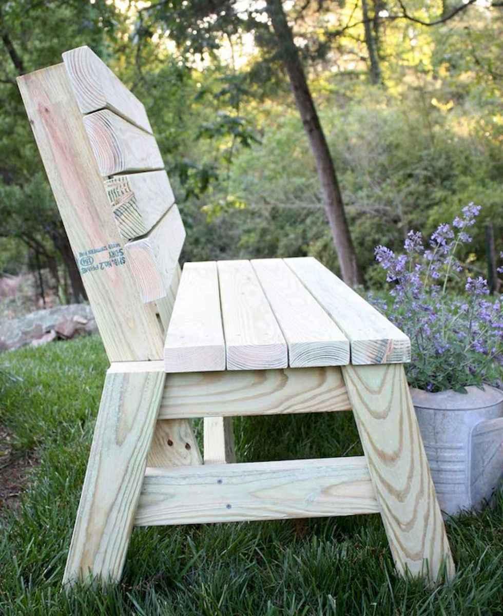 40 cheap diy outdoor bench design ideas for backyard & frontyard (4)