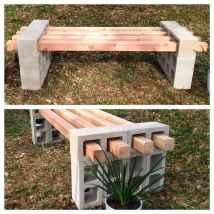 40 cheap diy outdoor bench design ideas for backyard & frontyard (7)