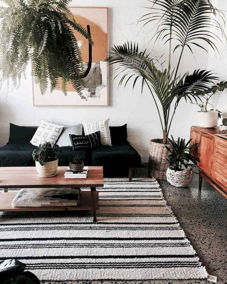 44 modern bohemian living room ideas for small apartment (28)