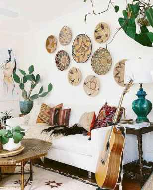 44 modern bohemian living room ideas for small apartment (43)