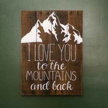 48 rustic wood sign ideas with motivation quotes (26)