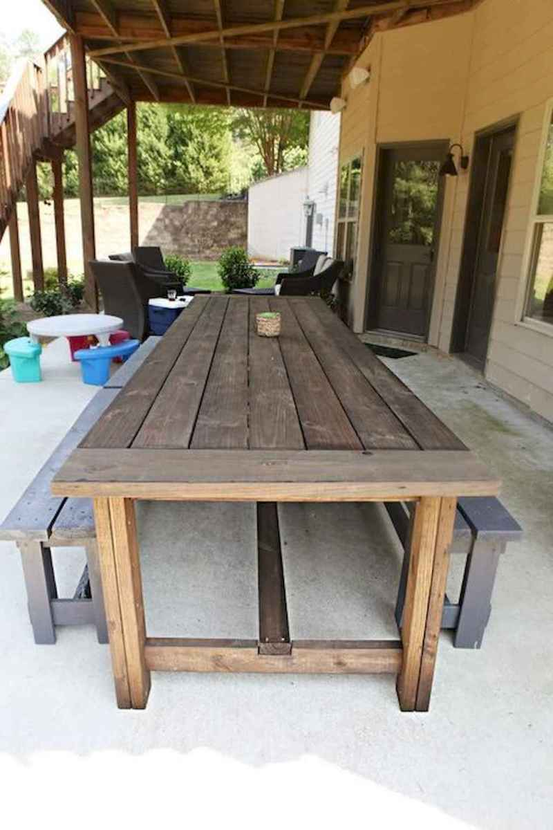 55 rustic outdoor patio table design ideas diy on a budget (16)