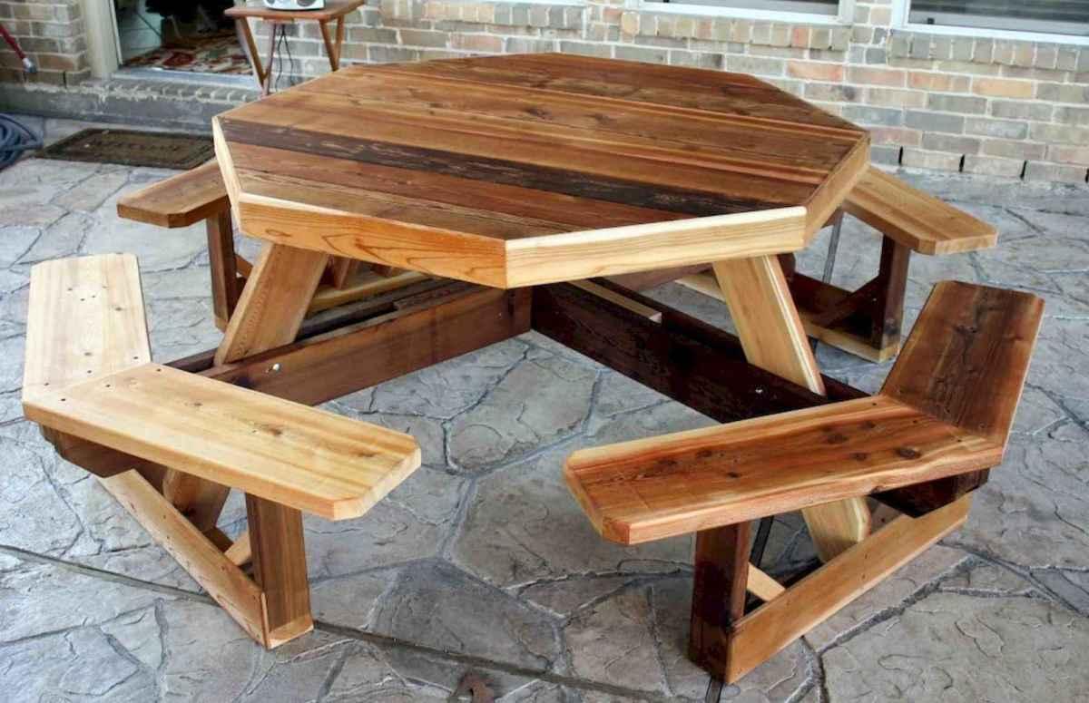 55 rustic outdoor patio table design ideas diy on a budget (45)