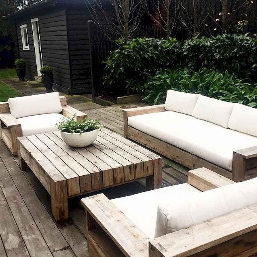 55 rustic outdoor patio table design ideas diy on a budget (50)