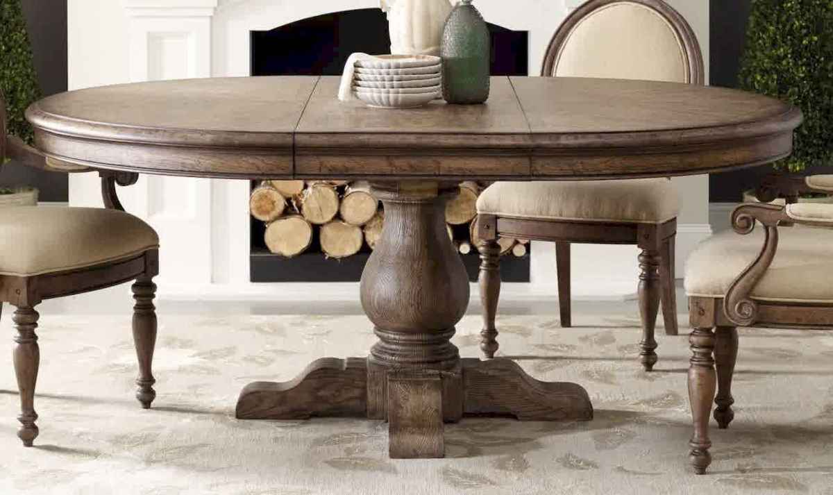 55 simple diy wooden dining table ideas that will inspire you (33)
