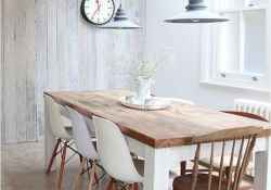 55 simple diy wooden dining table ideas that will inspire you (51)