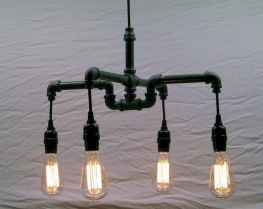 70 cheap diy industrial pipe lamps ideas to decor your home (47)