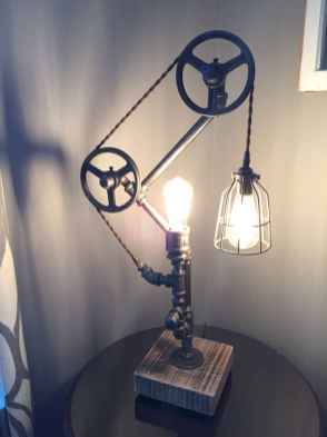 70 cheap diy industrial pipe lamps ideas to decor your home (51)