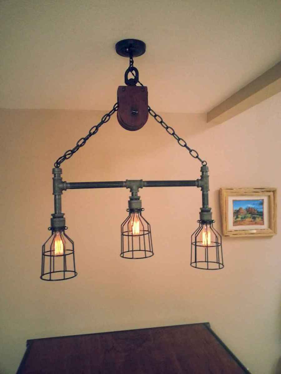70 cheap diy industrial pipe lamps ideas to decor your home (55)