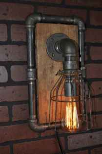 70 cheap diy industrial pipe lamps ideas to decor your home (57)